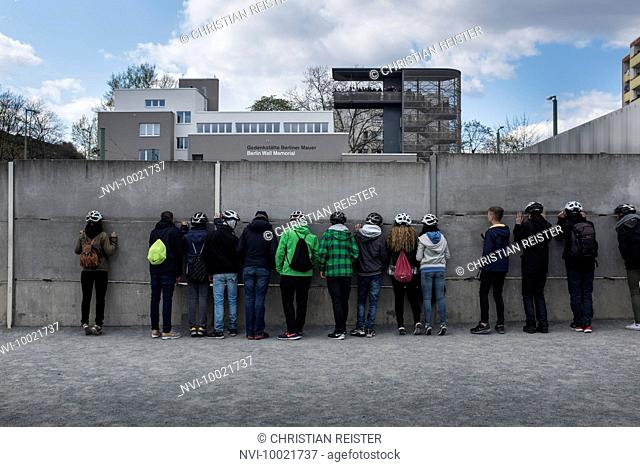 Memorial of the Berlin Wall, Bernauer Straße, Wedding, Berlin Mitte, Germany, Europe