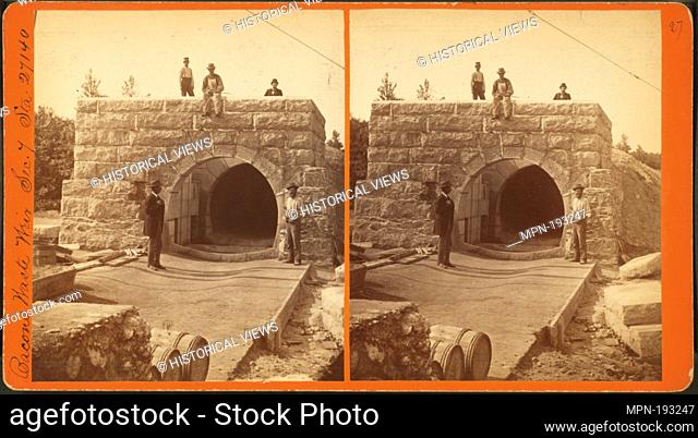 Bacon's waste weir, sec. 7, sta. 27140. Barritt, W. H. (William Henry) (1848-1920) (Photographer). Robert N. Dennis collection of stereoscopic views United...