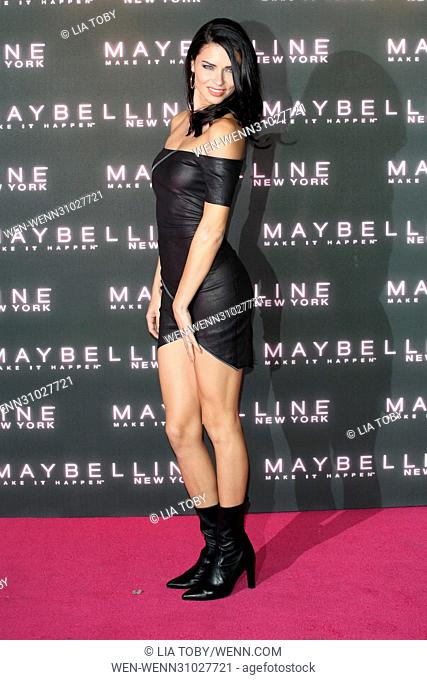 Maybelline Bring on the Night Party held at The Scotch of St James - Arrivals Featuring: Adriana Lima Where: London, United Kingdom When: 18 Feb 2017 Credit:...