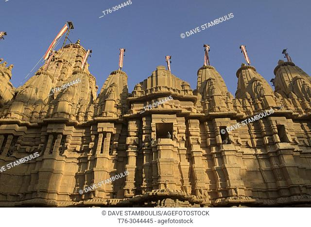 Parasnath Jain Temple inside the fort in Jaisalmer, Rajasthan, India