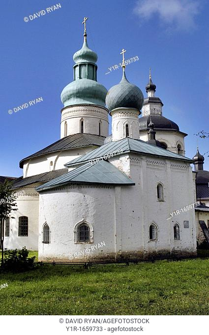 Russia, Goritzy, Church at the Monastery of the Resurrection, founded by Saint Cyril in 1397, Vologda Oblast