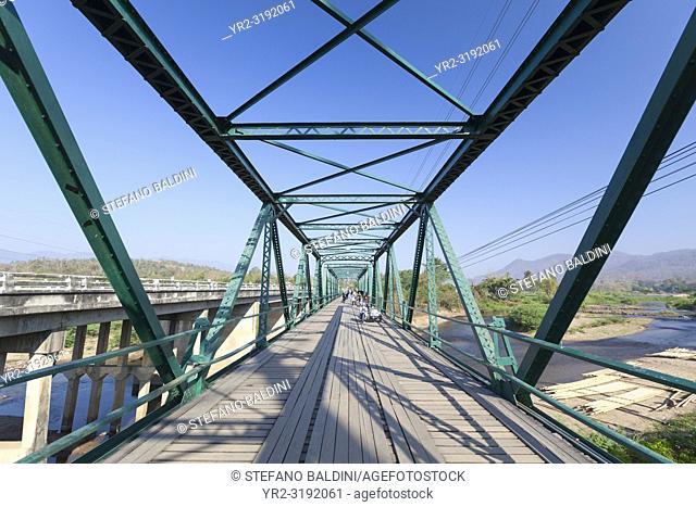 The world war two memorial bridge near Pai in Thailand