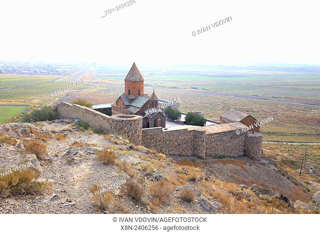 Ararat valley, Church of the Holy Mother of God (St. Astvatzatzin), Khor Virap, Ararat Province, Armenia