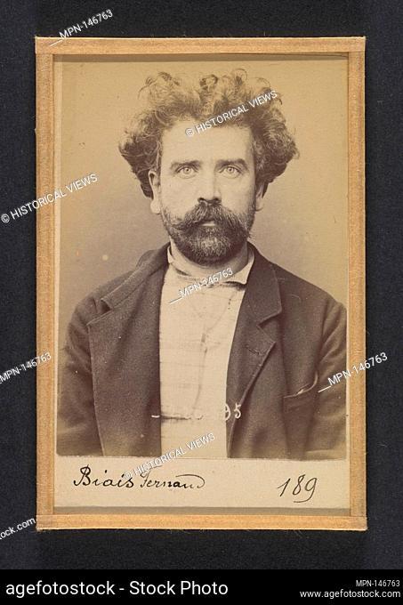 Biais. Fernand, Alphonse. 41 ans, né le 28/6/53 à Laval (Mayenne). Tourneur sur bois. Anarchiste. 2/7/94. Artist: Alphonse Bertillon (French