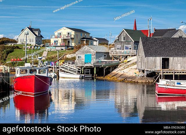 Canada, Nova Scotia, Peggy's Cove, fishing village on the Atlantic Coast