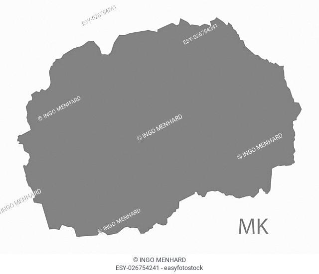 Macedonia Map grey