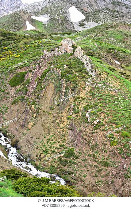 Anticline fold in Babia Biosphere Reserve, Leon province, Castilla-Leon, Spain
