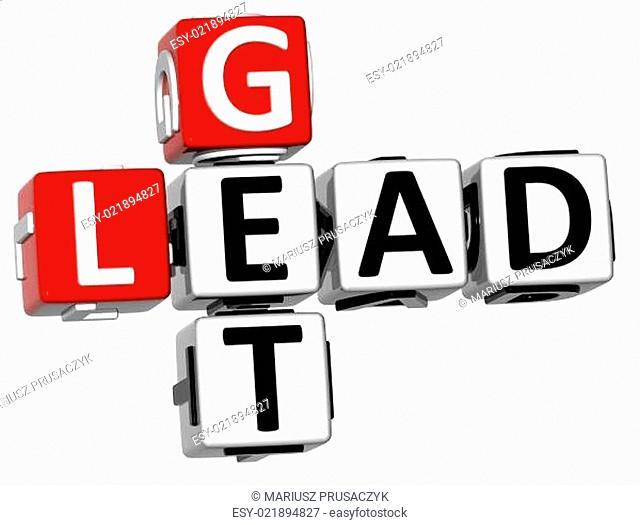 3D Get Lead Crossword