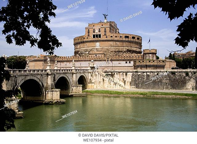 Castel Saint Angelo on the River Tiber Rome Italy