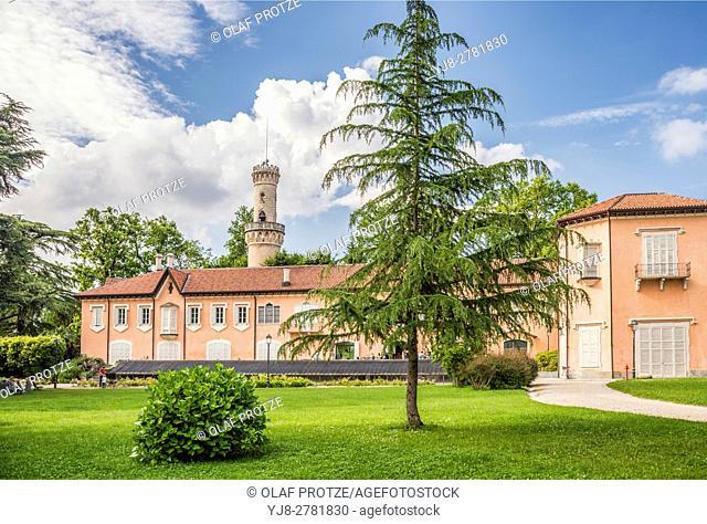Villa Mirabello at the Garden of Palazzo Estense, Varese, Italy