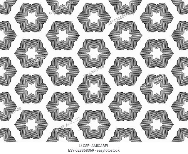 Design seamless monochrome star geometric pattern