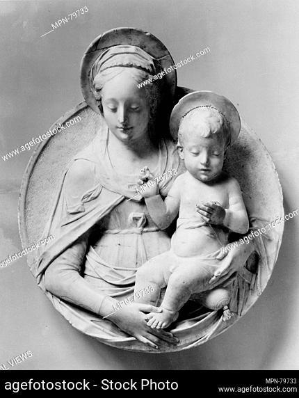 Virgin and Child. Artist: Imitator of Mino da Fiesole (Mino di Giovanni) (Italian, Papiano or Montemignaio 1429-1484 Florence); Date: probably 19th century;...