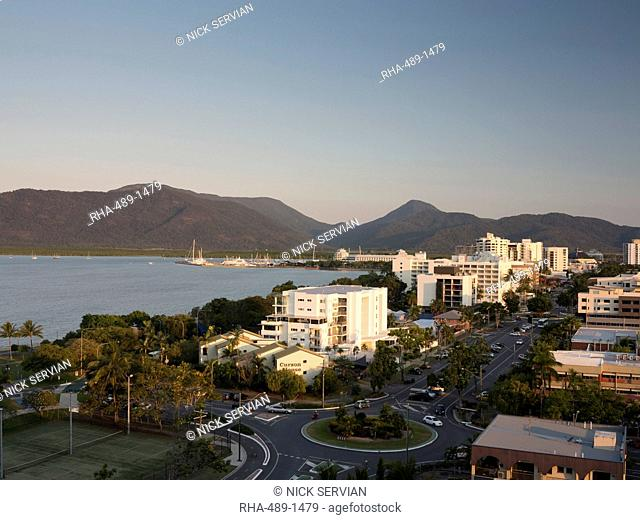 Waterfront and view towards city centre from south, Cairns, North Queensland, Australia, Pacific
