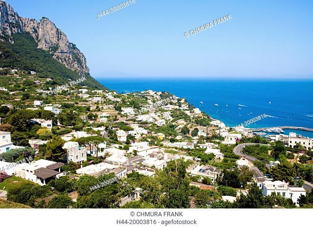 Italy, Gulf of Naples, Capri - Marina Grande Town