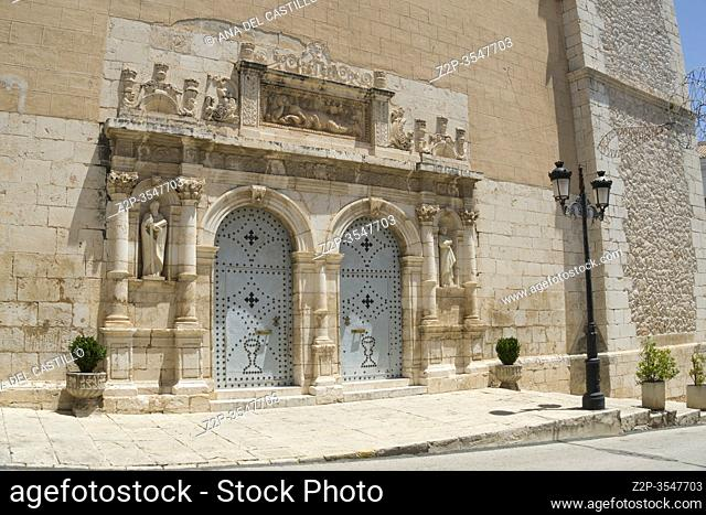 L'Olleria town Valencia province Spain: Magdalena church
