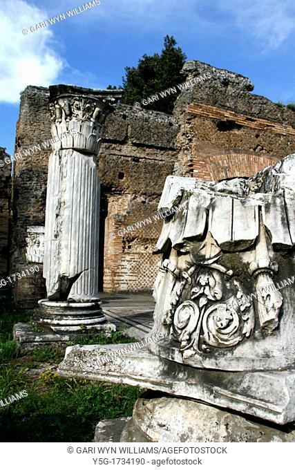 Ruins at Hadrian's Villa in Tivoli near Rome Italy