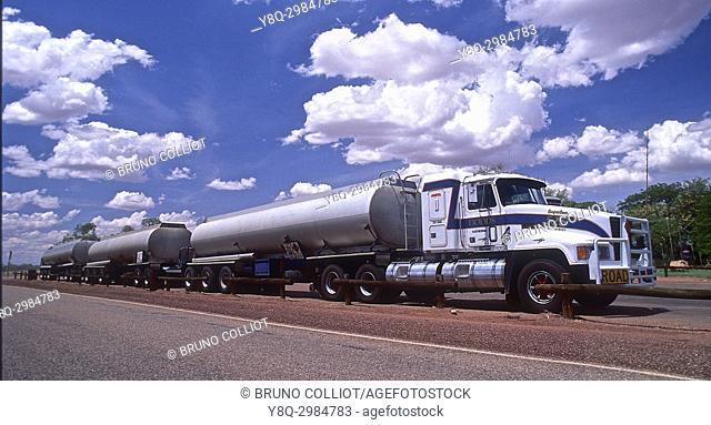 road train 53m. stuart highway. N T, australia