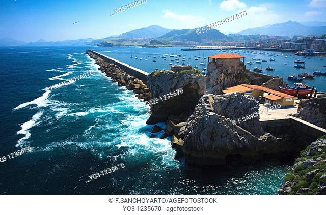 Bay of Castro Urdiales, Cantabria, Spain