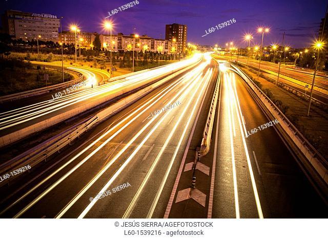 M-30 motorway, Madrid, Spain