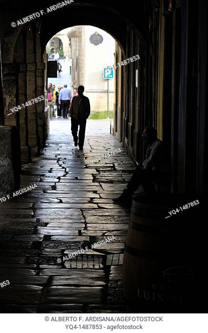 Calle Galiana street, Aviles, Asturias, Spain