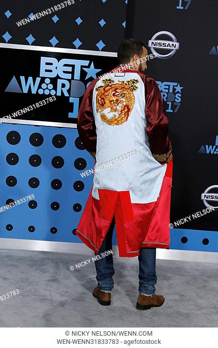 2017 BET Awards held at the Microsoft Theater - Arrivals Featuring: French Montana Where: Los Angeles, California, United States When: 25 Jun 2017 Credit: Nicky...