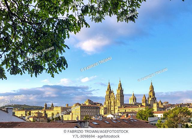 View of the Santiago de Compostela Cathedral, Santiago de Compostela, Galicia, Spain