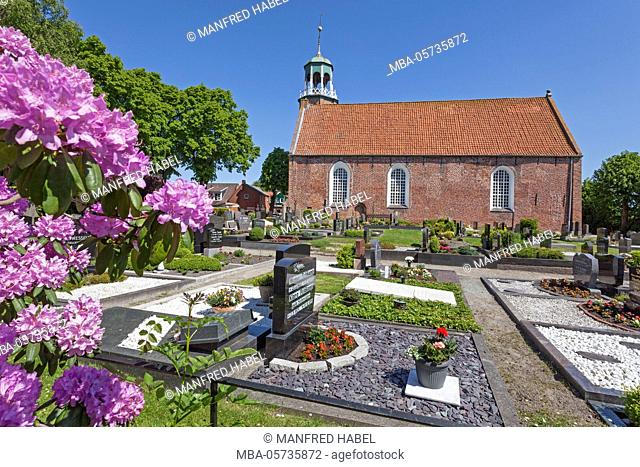 Evangelical Reformed Church in the fishing village Ditzum, East Frisia