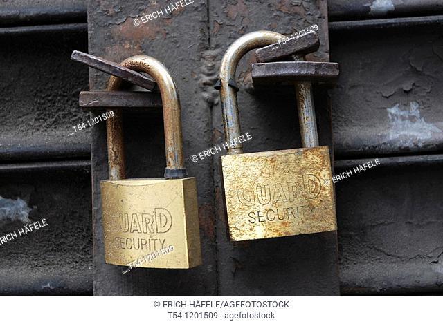 Padlocks at a Gate