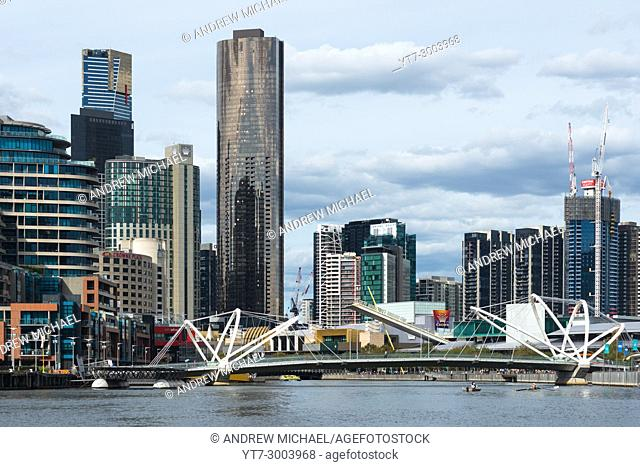 The Seafarers Bridge, a modern footbridge acorss the Yarra River in Melbourne, Australia