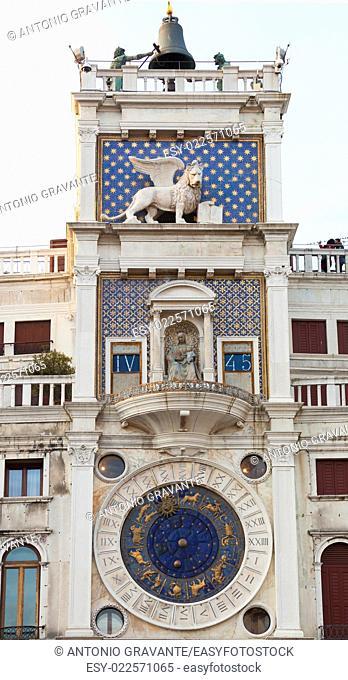 Zodiac Clock in Saint Marks Square, Venice, Italy