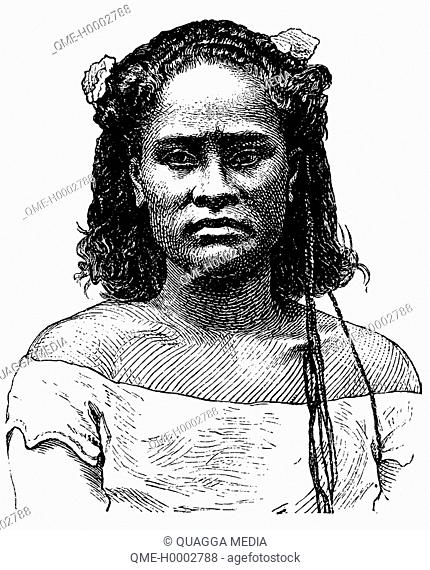 Portrait of a woman of the Tonga Islands