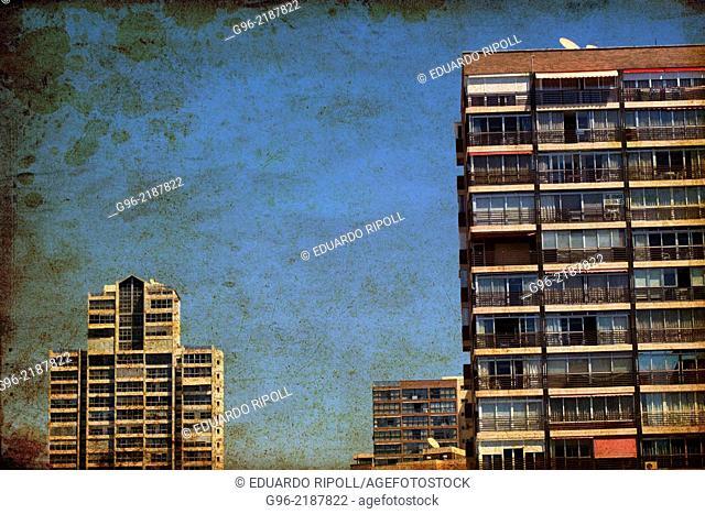Buildings in Benidorm, Alicante, Spain