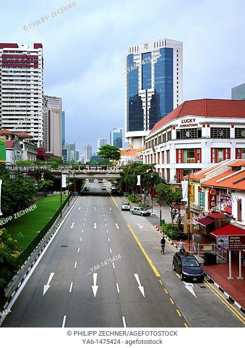 Singapore Chinatown around Temple Street