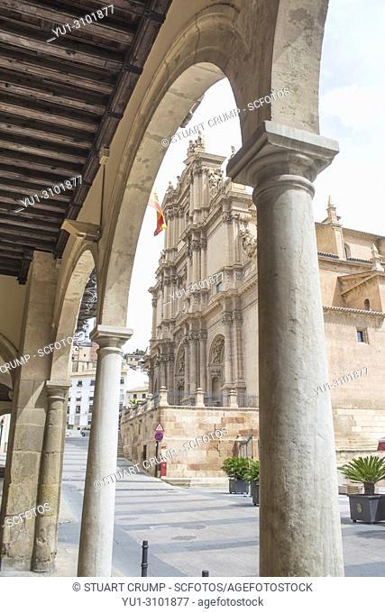 Colegiata de San Patricio church in the plaza de espana in Lorca Murcia Spain