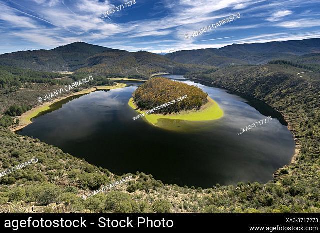 Melero meander, Alagon river at Las Hurdes region, Caceres, Spain