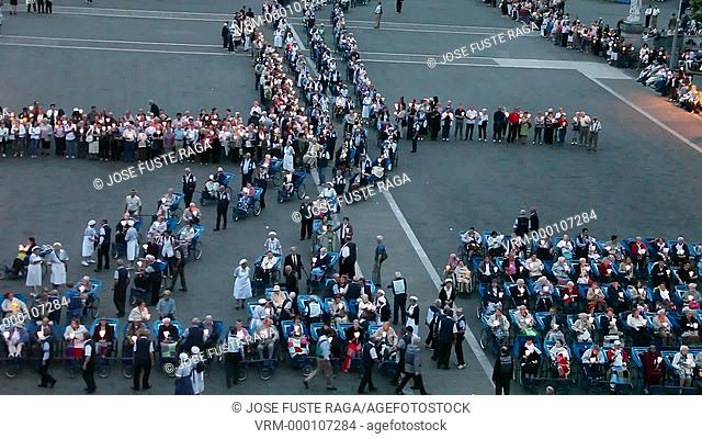 France, Lourdes City,The Dayly Procession