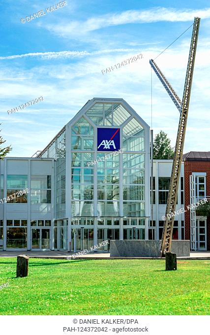 Germany: German headquarters of AXA Insurance in Cologne..Photo from September 15, 2019. | usage worldwide. - Köln/Nordrhein-Westfalen/Germany