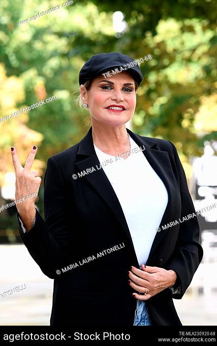 Simona Ventura during the photocall, Rome, ITALY-23-09-2020