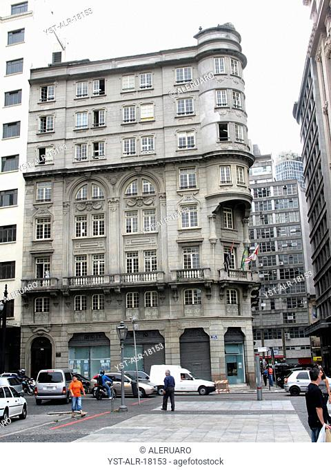 Building, downtown, people, Brazil