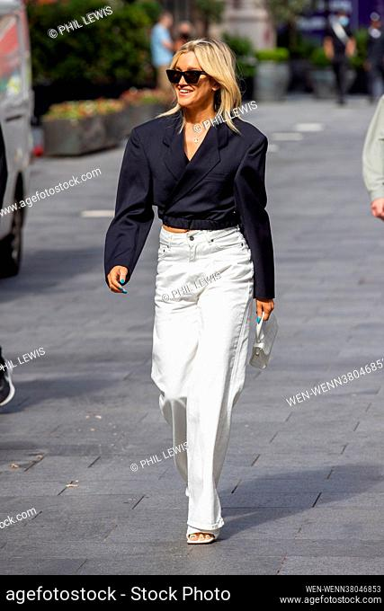 Celebrities seen in Leicester Square after their shows at Global Radio Featuring: Ashley Roberts Where: London, United Kingdom When: 02 Aug 2021 Credit: Phil...