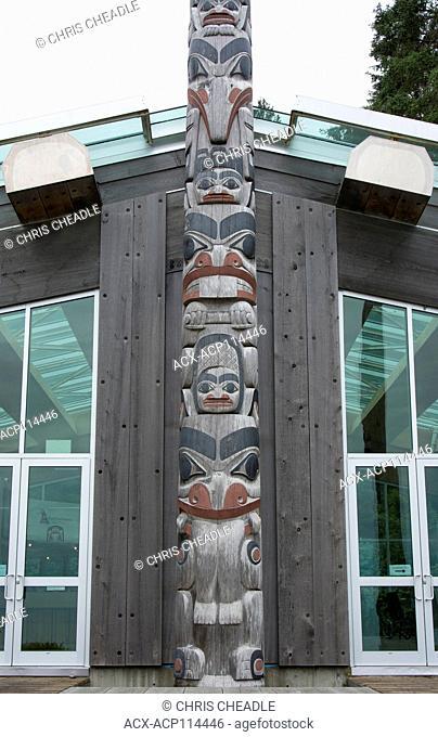 Haida Heritage Centre at ?ay Llnagaay, Haida Gwaii, formerly known as Queen Charlotte Islands, British Columbia, Canada