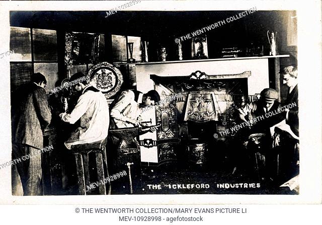 Cottage Industry, Ickleford, Hitchin, near Letchworth, Hertfordshire, England. Showing Metal-working