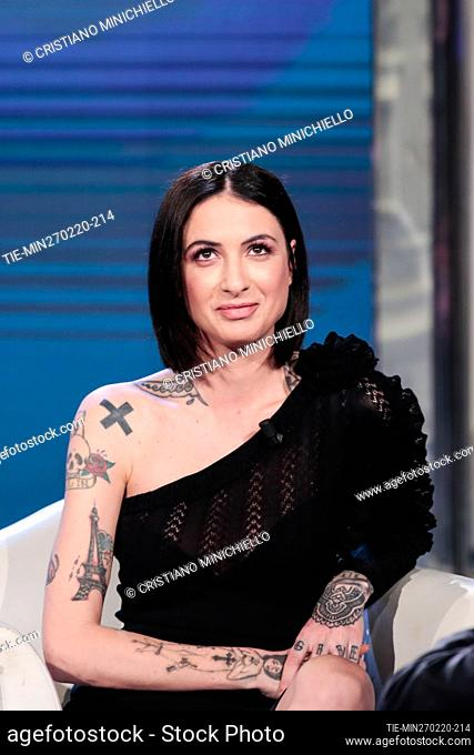 Ema Stockholma attends at the tv show ' Porta a porta' in Rome, ITALY-27-02-2020