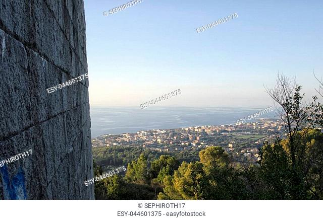 View of the coastline from the Mausoleum of Ciano