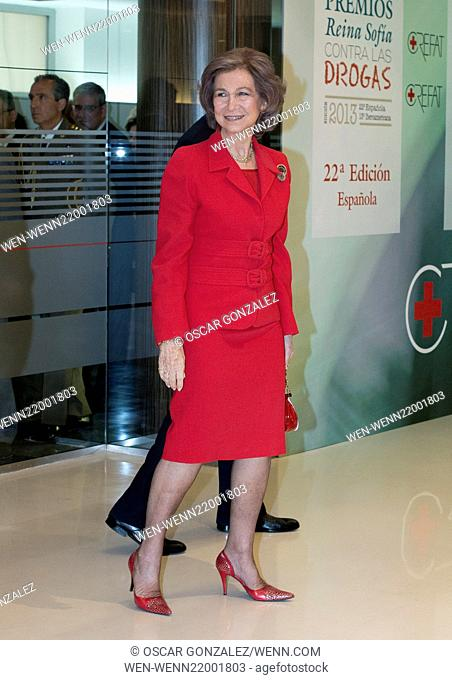 Queen Sofia presents the 22nd Spanish edition and the 13th Iberoamerican edition of the Reina Sofia Awards on Drugs from the CREFAT Foundation at the Spanish...