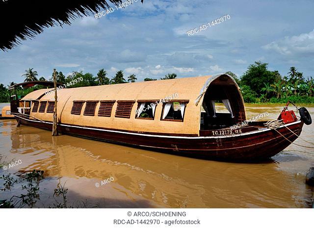 Kreuzfahrtboot, Sampan, Mekongdelta, Vietnam