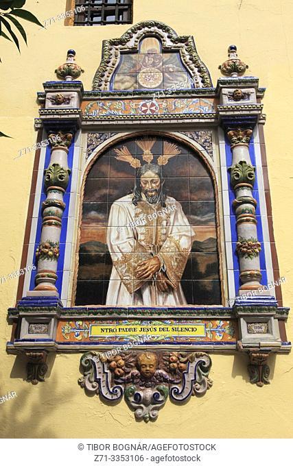 Spain; Andalusia; Seville; Iglesia San Juan de la Palma; church; Jesus image,
