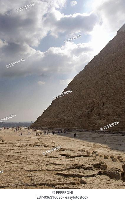one of the great pyramids on the giza plateau