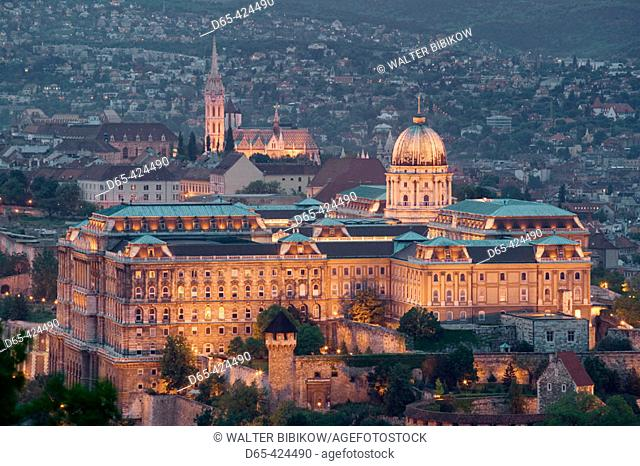 Evening View of Castle Hill from Gellert Hill. Budapest. Hungary. 2004