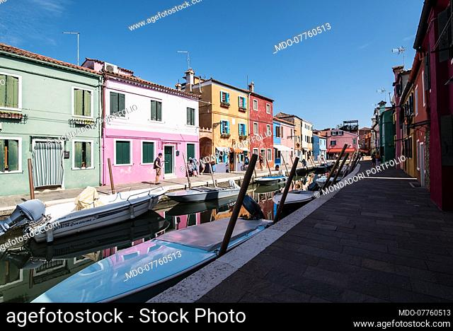 Tourists around Venice and the islands of Burano and Torcello in the summer of Covid. Venice (Italy), 20 August 2020